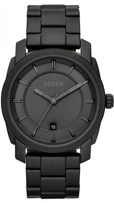 Fossil FS4704 Black Stainless Steel Watch < $85.17 > Fossil Watch Men