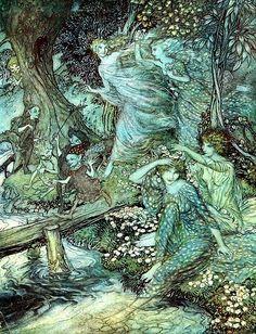 アーサー・ラッカム  無償のイラストレーション: ビンテージ, アーサー・ラッカム, ビクトリア朝, 古い, 古代 - Pixabayの無料画像 - 1722318