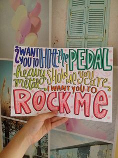 Use colorful markers and different fonts to achieve an awesome 1D song lyric drawing!!