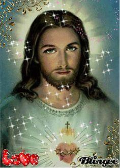 sagrado corazon de jesus Animated Pictures for Sharing Jesus Wife, Jesus Our Savior, Jesus Art, Mary Jesus Mother, Mary And Jesus, Pictures Of Jesus Christ, Religious Pictures, Holly Pictures, White Jesus
