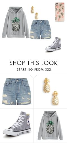 """""""School outfit #23"""" by thisisnotjs on Polyvore featuring River Island, Estella Bartlett, Converse and Sonix"""