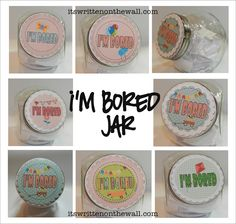 {Free Labels} It's Written on the Wall: Have you ever heard the words...I'm Bored Mom?