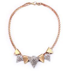 Lulu Frost beach break fin necklace
