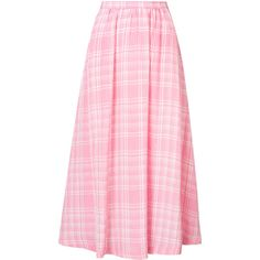 Rosie Assoulin plaid pleated skirt ($1,550) ❤ liked on Polyvore featuring skirts, pink tartan skirt, pleated skirt, high-waist skirt, high-waisted skirt and plaid skirt