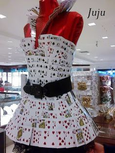 Dress with playing cards