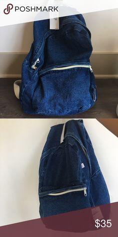 NWT Vintage AA backpack Brand new American apparel vintage dark wash denim backpack! Rare. No longer available! American Apparel Bags Backpacks