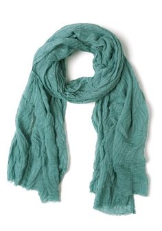 Leaf an Imprint Scarf in Aqua, #ModCloth