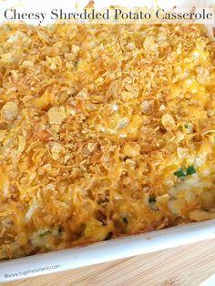 Cheesy Shredded Potato Casserole