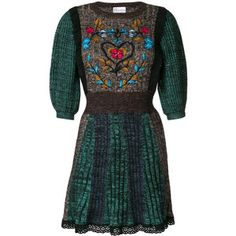 Red Valentino floral embroidered sweater dress