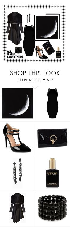 """Midnight Black!"" by nashalymoe ❤ liked on Polyvore featuring Journee Collection, J. Furmani, White House Black Market, Elizabeth and James, BCBGMAXAZRIA, Erica Lyons and allblack"