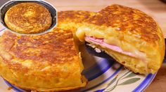 Tasty  Spanish potato omelette SANDWICH style - easy food recipes for dinner to make at home - YouTube