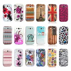 Cute Cool Leopard Butterfly Flower Owl Design TPU Silicone Protective Phone Bag Shell for Samsung GALAXY S3 Case Cover i9300