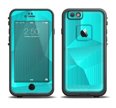 The Blue Geometric Pattern Apple iPhone 6/6s Plus LifeProof Fre Case Skin Set from DesignSkinz
