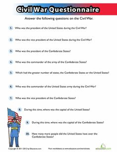 Middle School History Civics & Government Worksheets: Civil War Quiz - Visit to grab an amazing super hero shirt now on sale! 7th Grade Social Studies, Social Studies Lesson Plans, Social Studies Notebook, Social Studies Worksheets, Social Studies Classroom, History Classroom, Teaching Social Studies, History Teachers, Teaching History