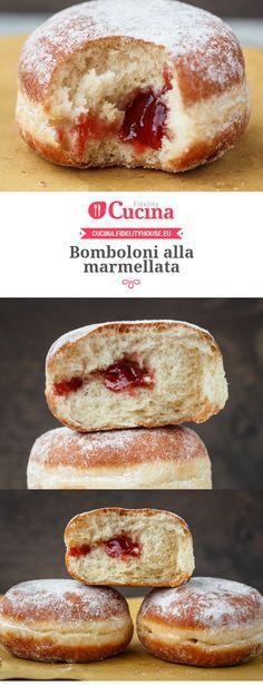 I #bomboloni alla #marmellata sono perfetti per la #merenda o per la #colazione…