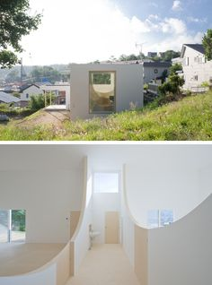Hiroshi Kuno - House for the architect's brother, Otaru City 2014. An amazing sense of space for such a small footprint