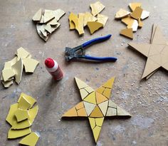 Making #mosaic #stars