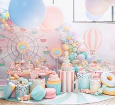 first birthday pics Candy Theme Birthday Party, Donut Birthday Parties, Donut Party, Candy Party, Cupcake Party, Baby Birthday, Birthday Party Decorations, Baby Shower Decorations, Wedding Candy Table