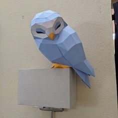 Paper Owls, Paper Art, Summer Crafts, Kids Crafts, 3d Paper Crafts, Scroll Saw Patterns, Low Poly, Diy Kits, Spirit Animal