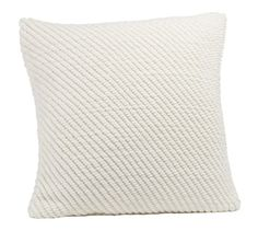Grand Chenille Pillow Covers | Pottery Barn (Family Room)