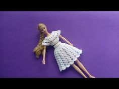 Vestido boneca barbie - passo a passo croche #1 - YouTube