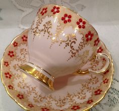 Vintage, English TUSCAN Fine Bone China Tea Cup & Saucer