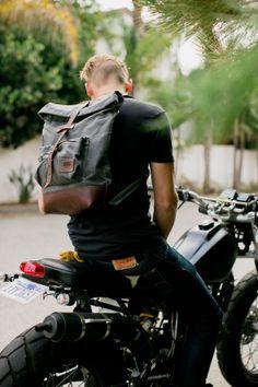 cool backpack, cool bike too