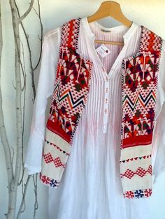Recycled huipil from Guatemala and tunic from India