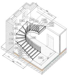 Ideas for your stairs Metal Stairs, Curved Staircase, Staircase Design, Escalier Art, Stair Plan, Indian House Plans, Building Stairs, Stair Detail, Stairs Architecture