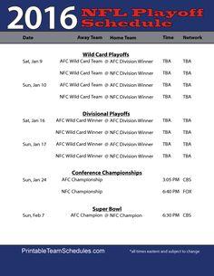 nfl schedule