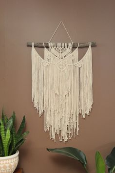Wild Salt Spirit: Macrame Wall Hanging on Driftwood by #fallandFOUND on Etsy