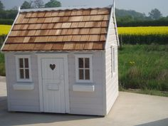 a small cottage playhouse that could later be used as a chicken coop? Outside Playhouse, Garden Playhouse, Girls Playhouse, Childrens Playhouse, Build A Playhouse, Playhouse Outdoor, Playhouse Ideas, Cubby Houses, Play Houses