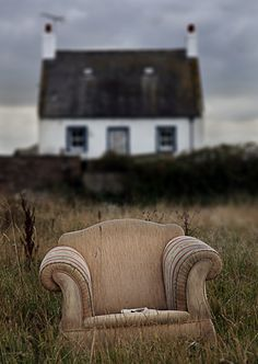 photo via jack the hat.dirty old chair but something charming about the picture. Southern Gothic, English House, Vintage Chairs, Take A Seat, Abandoned Places, Abandoned Churches, Abandoned Homes, The Outsiders, At Least