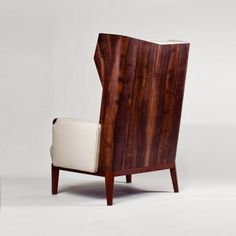 """Remix"" leather and wood chair"