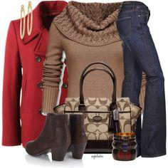Pretty Red Pea Coat