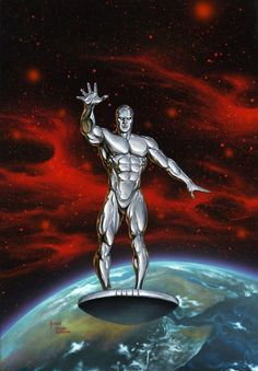 Silver Surfer by Joe Jusko  Homage to the Jack Kirby cover of the first SS comic