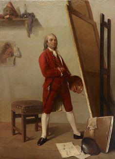 France, vers 1780-1800 Portrait d'un artiste dans son atelier Huile sur toile - 62,2 x 48,9 cm Dallas Museum of Art