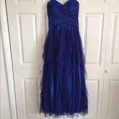 Ball gown style prom dress Beautiful ball gown style blue dress size 11. Roberta Dresses Strapless