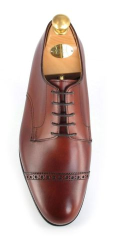 Crockett & Jones Draycott - Chestnut Burnished Calf Men Dress, Dress Shoes, Crockett And Jones, Wedding Anniversary, Derby, Calves, Oxford Shoes, Menswear, Lace Up