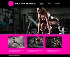 Awesome looking website for any personal trainer.
