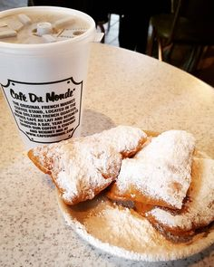 Beignets French Doughnuts - The Original Cafe Du Monde Coffee Stand #beignets #cafedumonde #neworleans #frenchquarter #amust #sweets #dough by zoegarner89