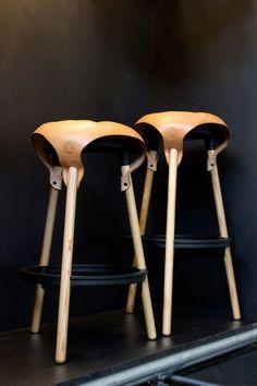 Charming Old Fashioned Pub Bar Stools  Saddle Stool  Design Label  Old Fashioned Metal Bar Stools