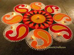 Rangoli....art work...  #rangoli #kolam #chalk #riceflour #drawing #floorart #art #paisley #ambi #diwali #decoration #craft #floor #diya #design