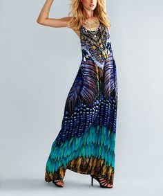 Blue Jay Silk-Blend Maxi Dress | zulily