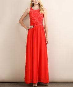 Look what I found on #zulily! Coral Cutout-Back Maxi Dress #zulilyfinds