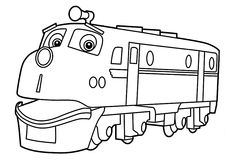 chuggington coloring pages wilson for kids printable free - Chuggington Wilson Coloring Pages