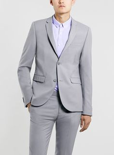 LIGHT GREY ULTRA SKINNY SUIT
