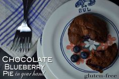 Gluten-free Chocolate Blueberry Pie