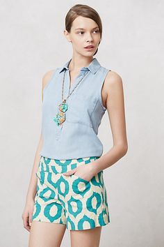 Sleeveless Chambray Popover by Cloth and Stone from  #anthropologie  So soft..