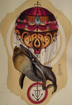 Hot Air Balloon - Mongolfiere on Pinterest | Henna Tattoos, Alex O ...